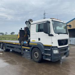 2013 (13) MAN TGS26.360 with Cormagh Crane