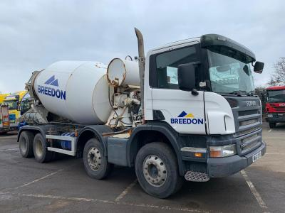 2007 (57) Scania P380 8x4 cement mixer